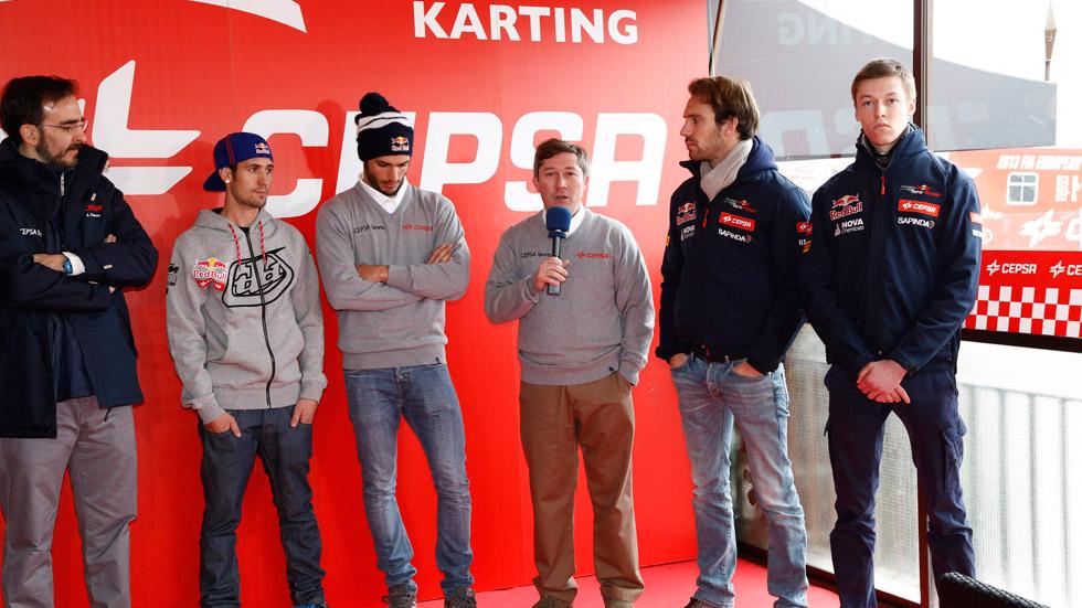 Vídeo: los pilotos de Toro Rosso y Sainz Jr., a prueba