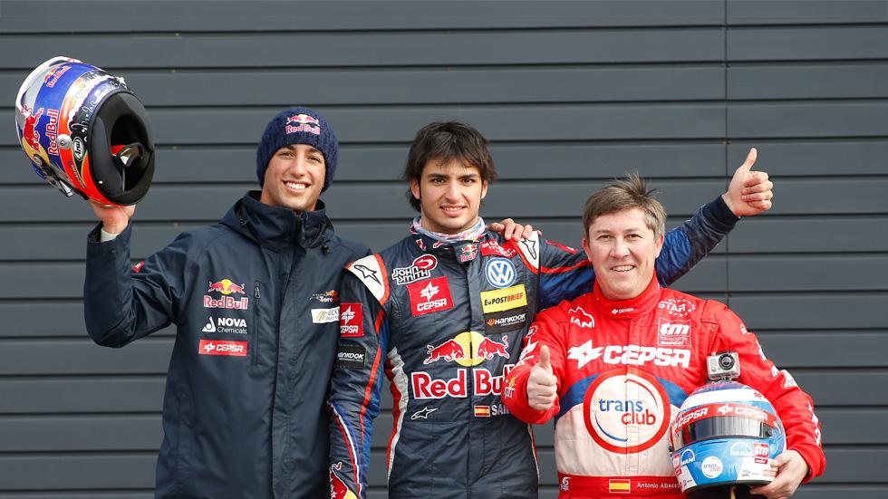 CEPSA, con la F1, Sainz Jr. y Antonio Albacete en 2013