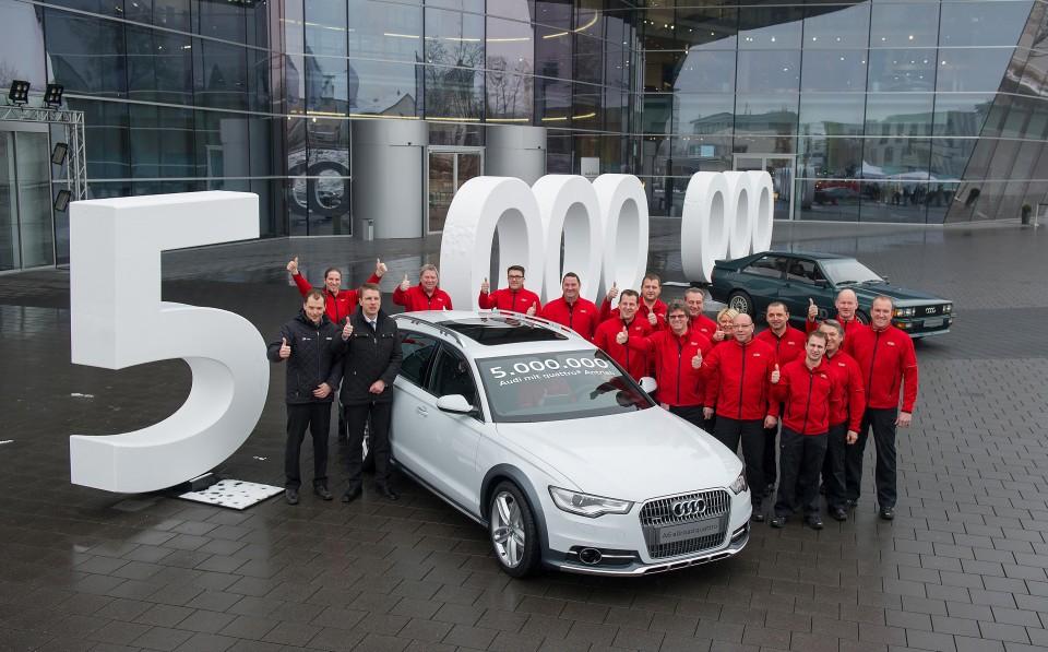 Cinco millones de Audi quattro