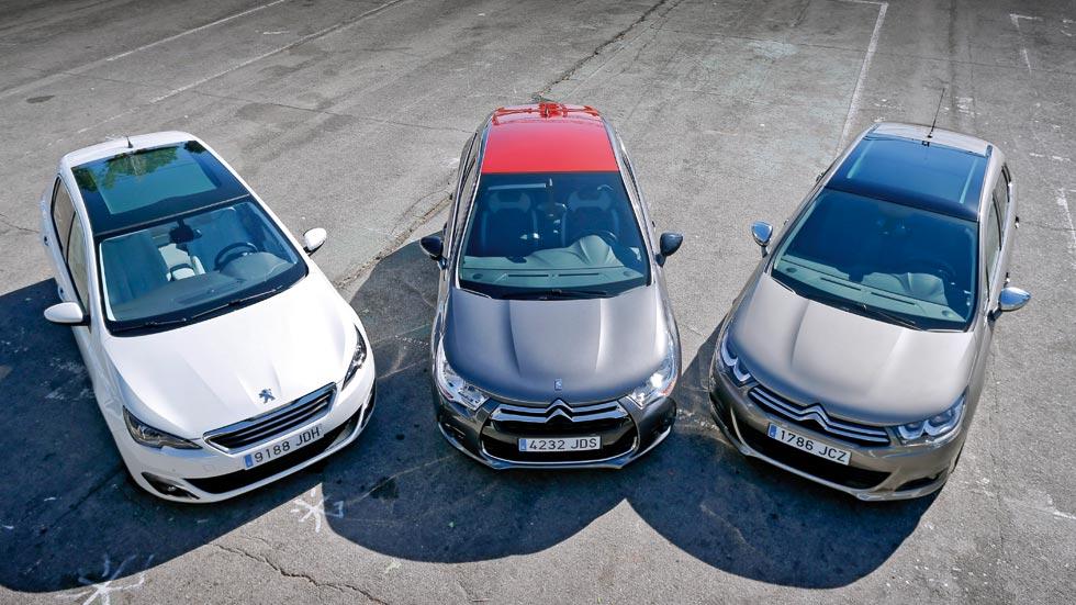 Citroën C4 1.6 BlueHDi contra DS 4 1.6 BlueHDi y Peugeot 308 1.6 BlueHDI