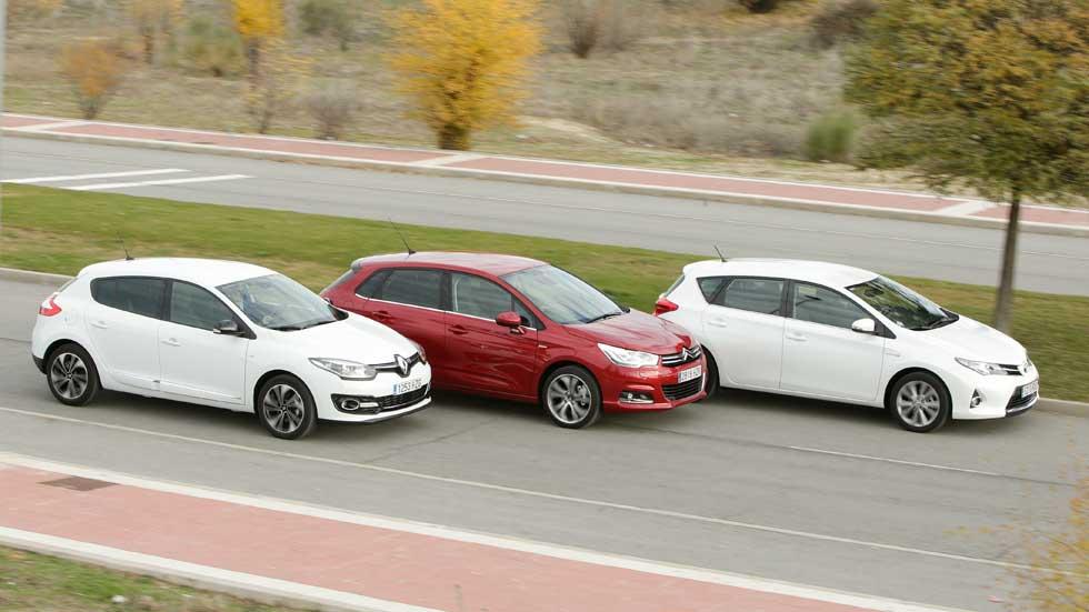 Comparativa: Citroën C4 PureTech 130 vs Renault Mégane TCe 130 y Toyota Auris Hybrid