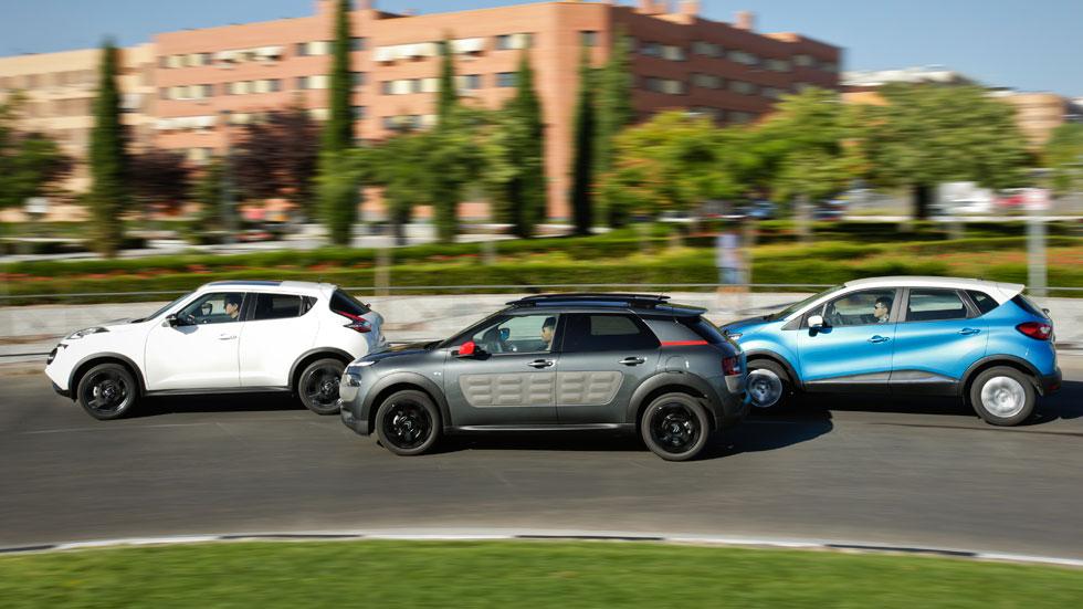 Comparativa: Citroën C4 Cactus 1.6 BlueHDI vs Nissan Juke 1.5 dCi y Renault Captur 1.5 dCi