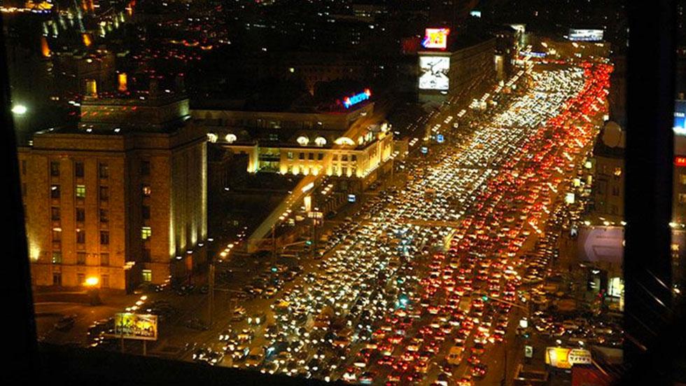 Moscú, la ciudad más atascada del planeta