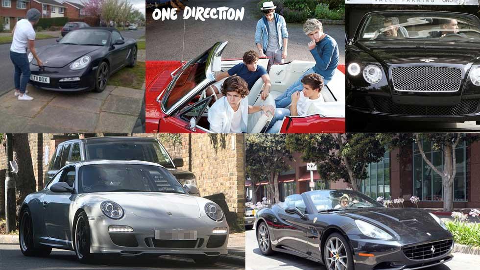 Así son los coches que conducen los One Direction