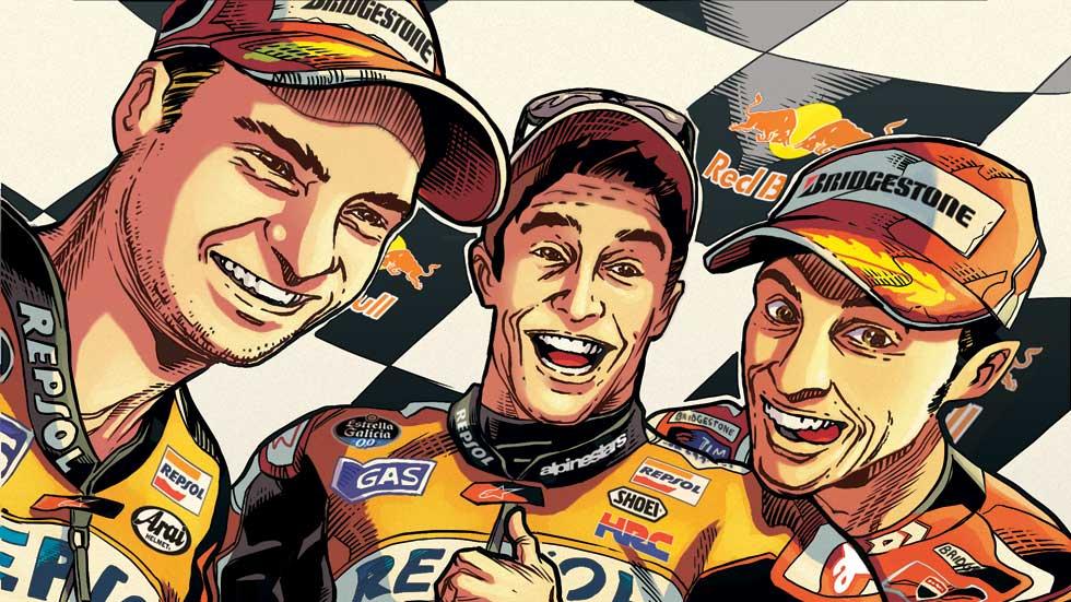 Revive el Mundial de Motociclismo 2014 con el cómic 'El año de los récords'
