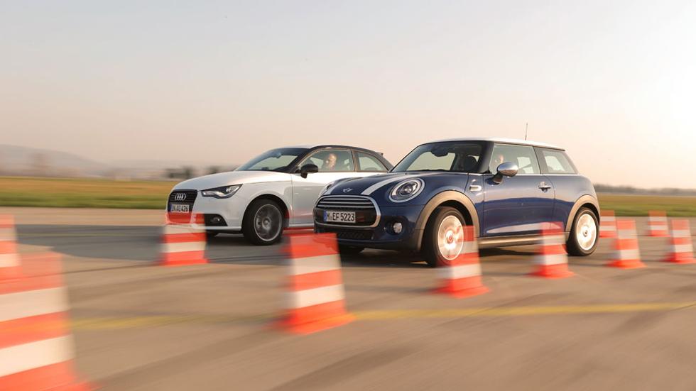 Comparativa: Audi A1 1.4 TFSI CoD vs Mini Cooper