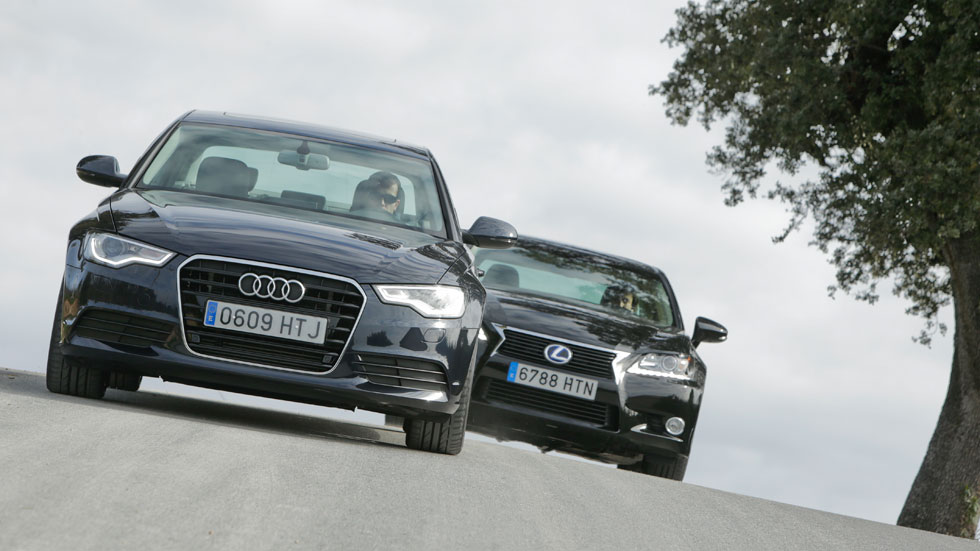 Comparativa: Audi A6 Hybrid 2.0 TFSI vs Lexus GS 300h