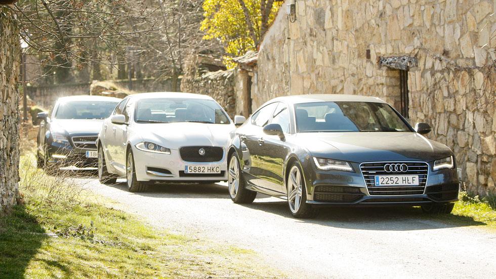 Comparativa: Audi A7 vs Mercedes CLS y Jaguar XF