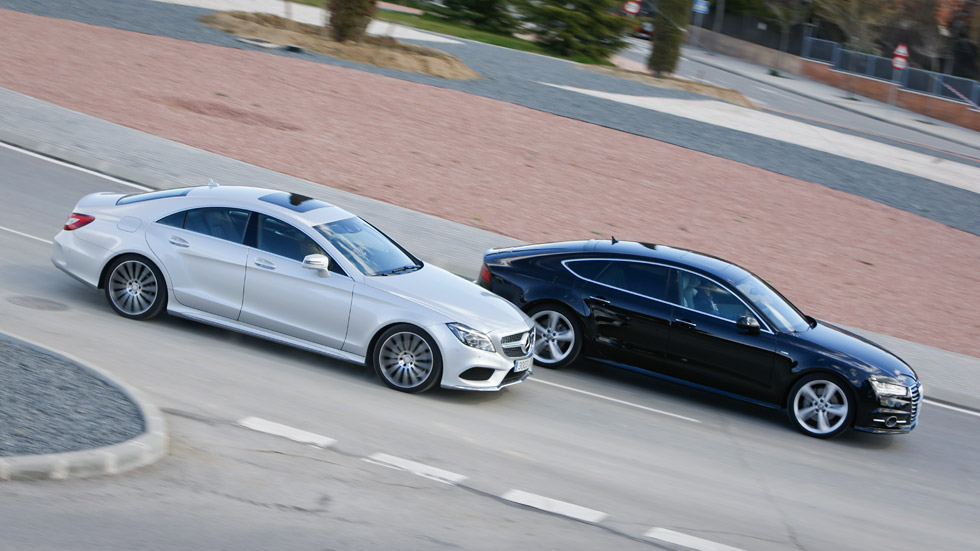 Comparativa: Audi A7 3.0 TDI vs Mercedes CLS 350 BlueTEC