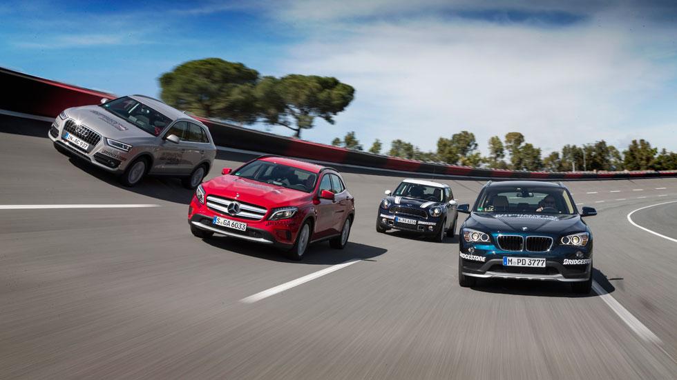Comparativa: Audi Q3 vs BMW X1, Mercedes GLA y Mini Countryman Cooper S