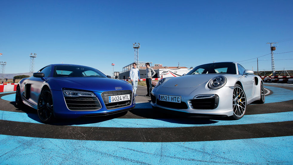 Comparativa: Audi R8 V10 Plus vs Porsche 911 Turbo S