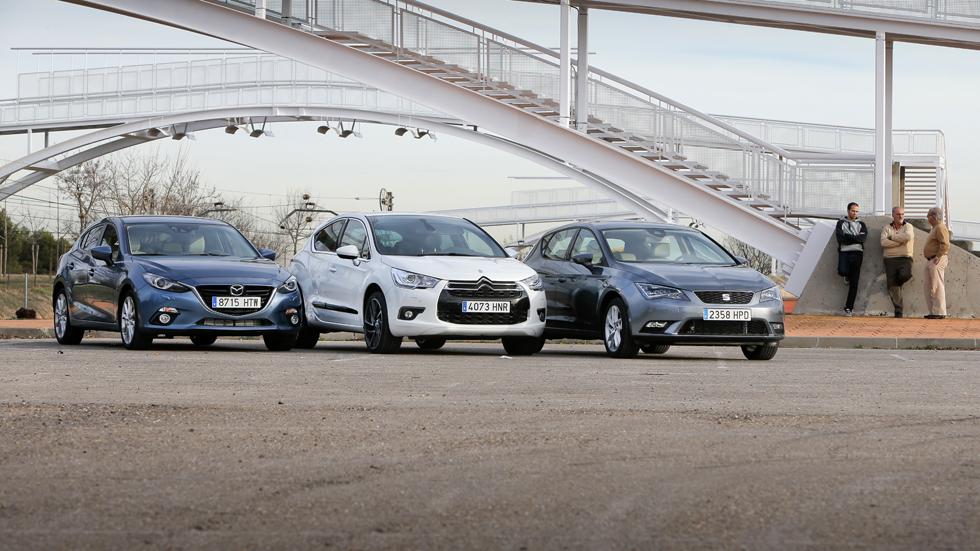 Comparativa: Citroën DS4 2.0 HDI vs Mazda 3 2.2D y Seat León 2.0 TDI
