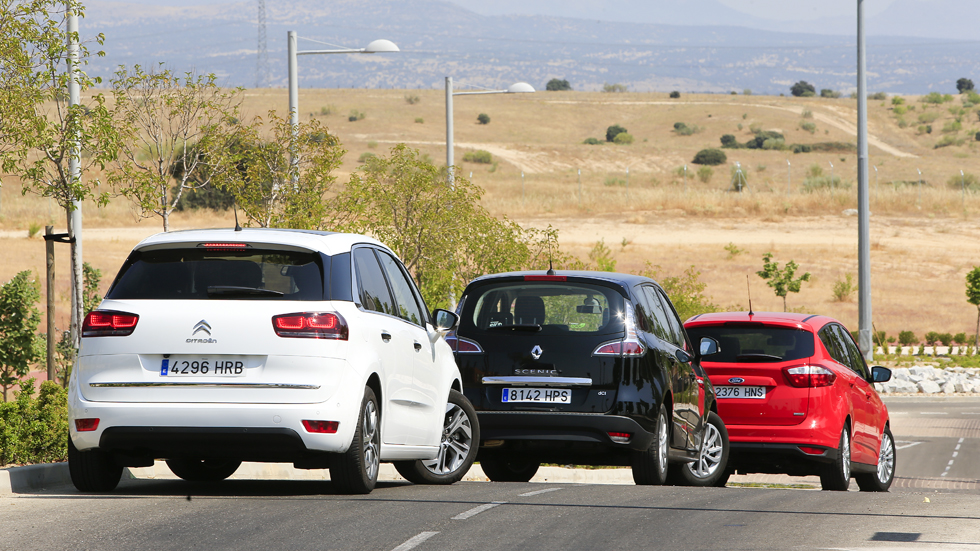 Comparativa Diesel: Citroën C4 Picasso vs Ford C-Max y Renault Scénic