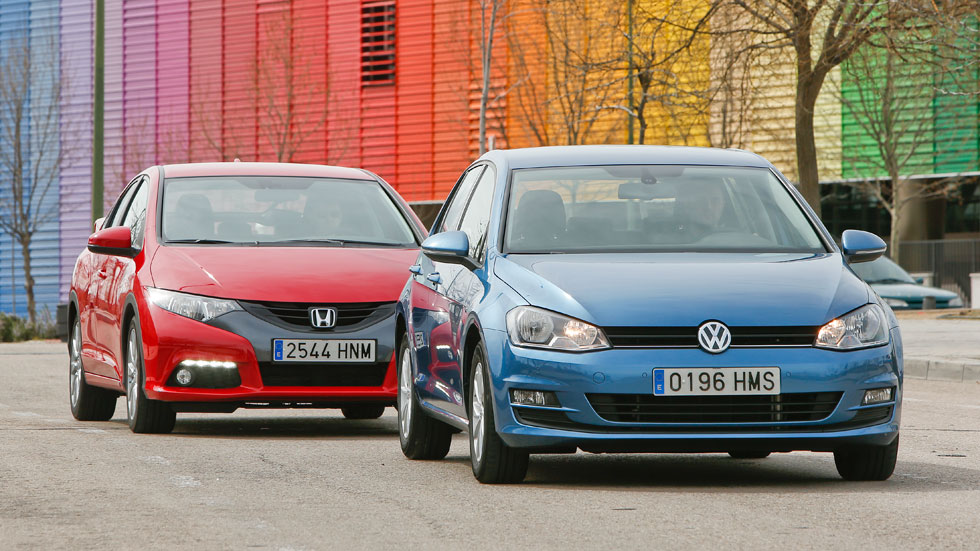 Comparativa: Honda Civic 1.6 i-DTEC vs VW Golf 1.6 TDI