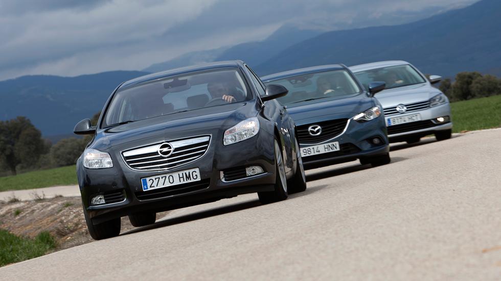 Mazda6 2.2 D vs Opel Insignia CDTi y VW Passat TDI