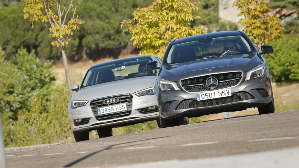 Comparativa: Mercedes CLA 220 CDI vs Audi A3 Sedán 2.0 TDI