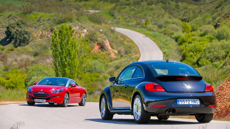 Comparativa: Peugeot RCZ 1.6 THP vs VW Beetle 1.4 TSI