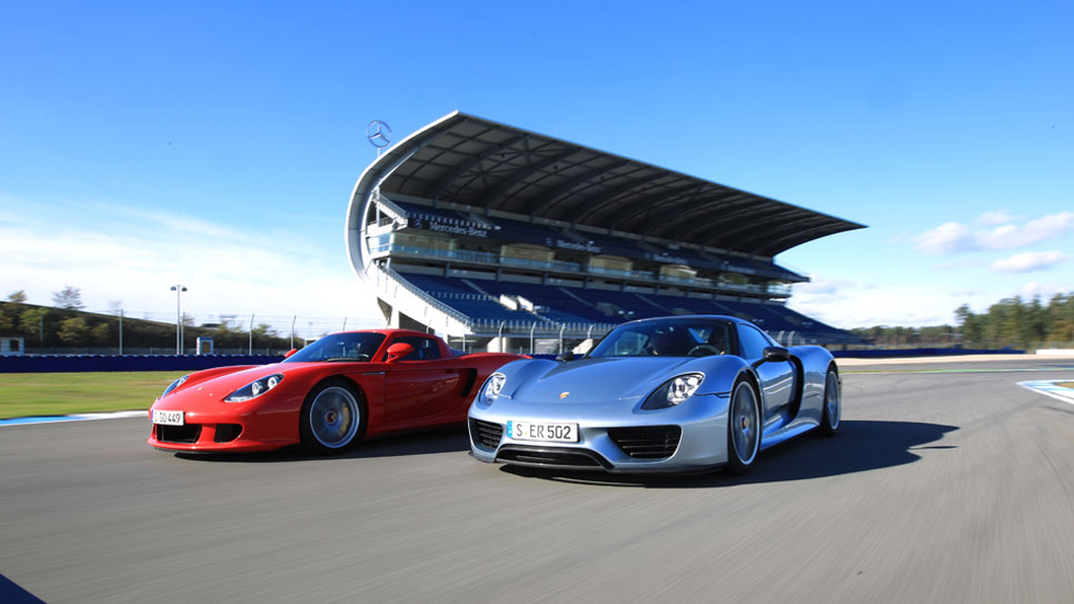 Comparativa: Porsche 918 Spyder vs Carrera GT: fuera de serie