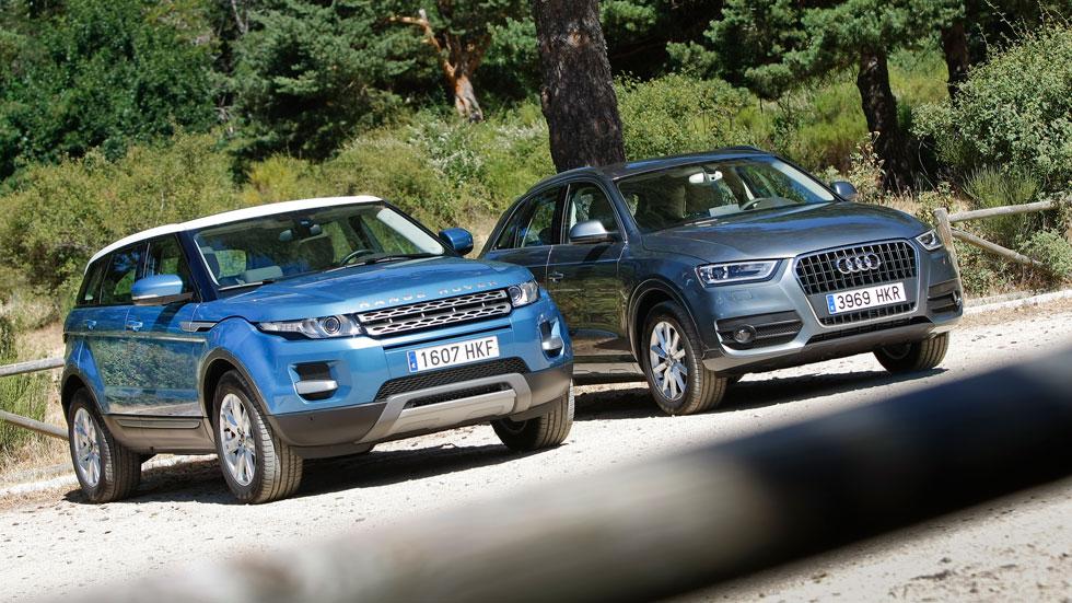 Comparativa: Range Rover Evoque eD4 2WD vs Audi Q3 2.0 TDI 4x2