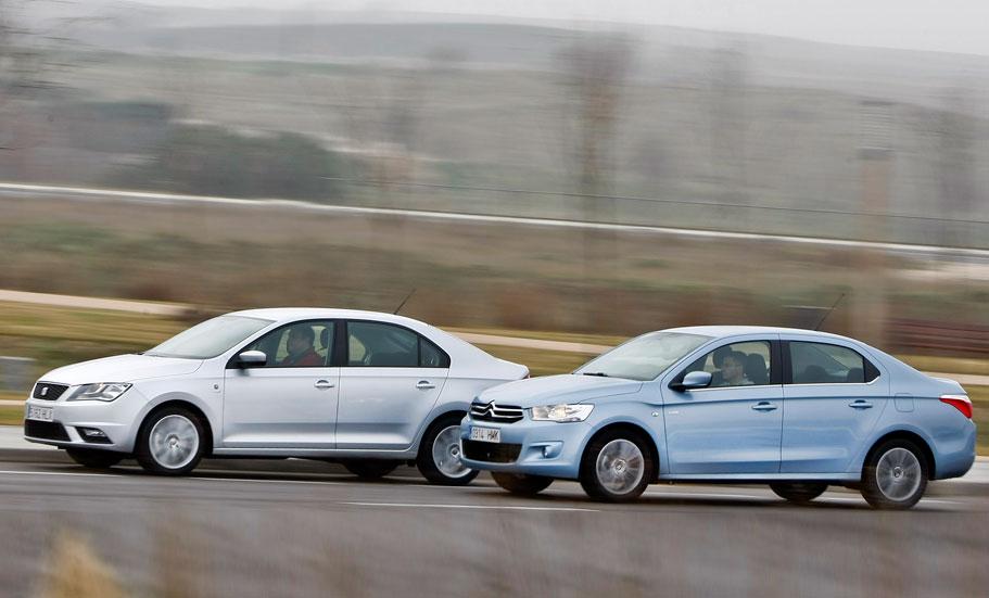 Comparativa: Seat Toledo 1.6 TDI vs Citroën C-Elysée 1.6 HDI