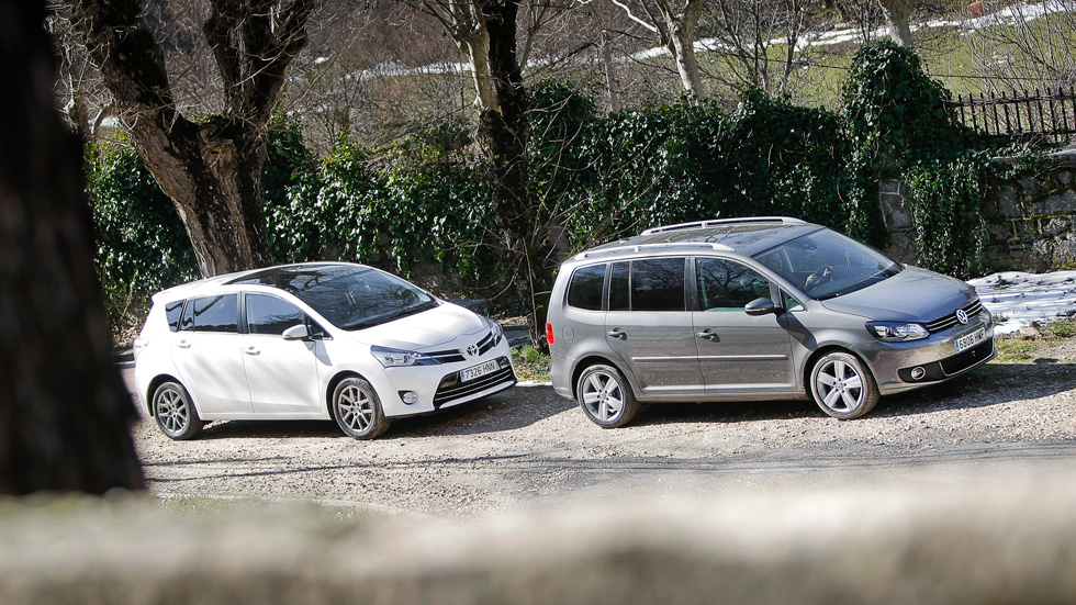 Comparativa: Toyota Verso 150 D vs VW Touran 2.0 TDI