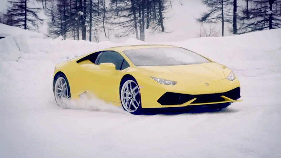 Cursos de conducción Lamborghini Winter Accademia: así deslizan los Huracán sobre la nieve
