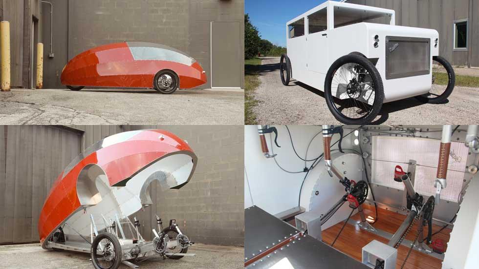 Cyclone y Zeppelin, coches de propulsión humana