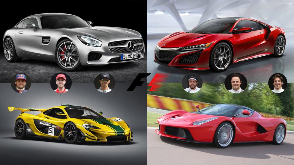 ¿Qué deportivos tendrían los pilotos de F1 según sus colores?