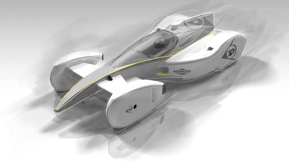 El coche de carreras del futuro, según Dunlop