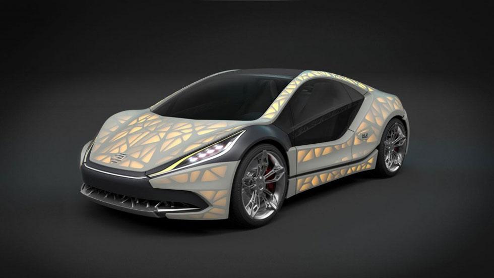 Edag Light Cocoon Concept, con carrocería translúcida de 3D