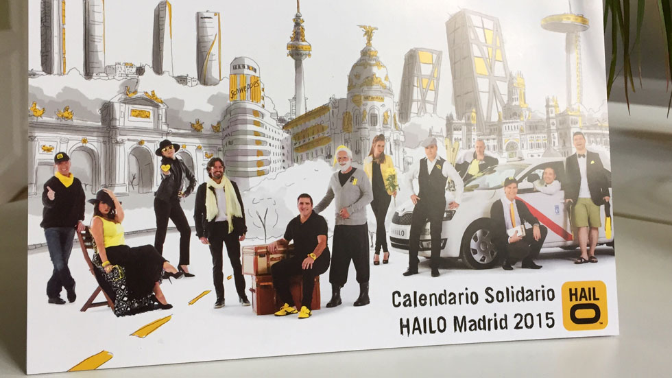 El calendario más solidario 'made in' los taxistas de Madrid