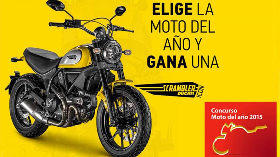 Elige la mejor moto del año y gana una Ducati Scrambler Icon