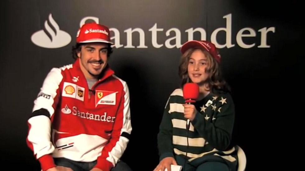 Vídeo: una niña de nueve años entrevista a Fernando Alonso