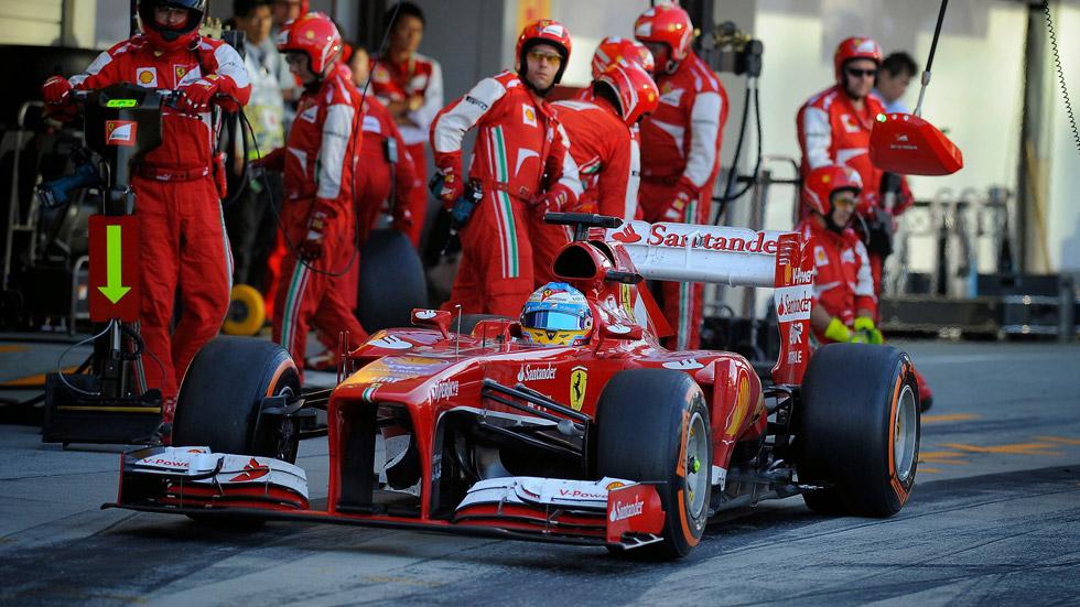 F1: Ferrari, el equipo más rápido en los 'pit-stops' de 2013