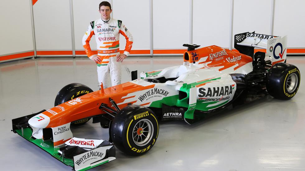 Force India VJM06: Di Resta destapa en solitario el nuevo monoplaza indio