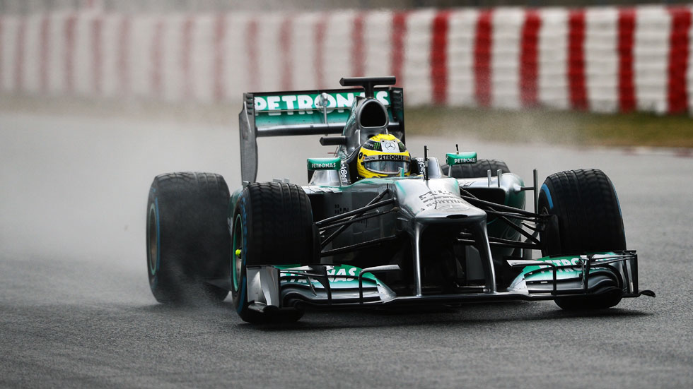 F1 Montmeló: golpe de efecto final de Mercedes