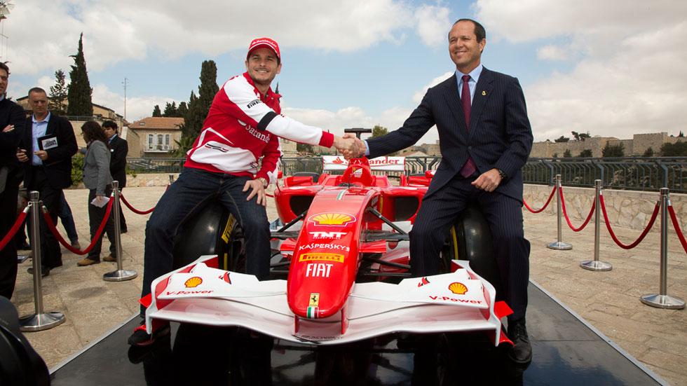Fisichella pilotará un Ferrari por Jerusalén