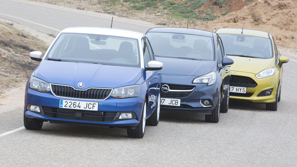Comparativa: Ford Fiesta 1.0 125 CV vs Opel Corsa 1.0T 115 y Skoda Fabia 1.2 TSI 110