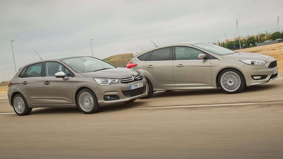 Ford Focus 1.6 TDCi 115 contra Citroën C4 1.6 BlueHDi 120