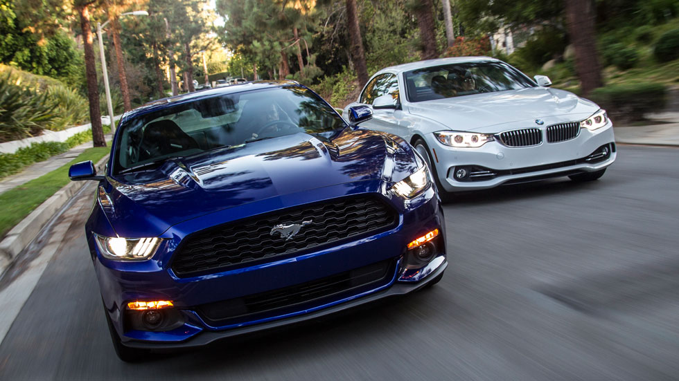 Primera prueba: Ford Mustang vs BMW Serie 4
