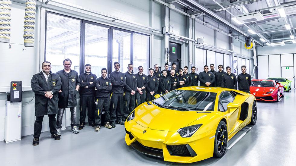 FP para jóvenes desfavorecidos en la fábrica de Lamborghini