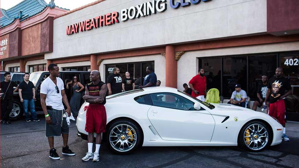 El garaje multimillonario del boxeador Floyd Mayweather