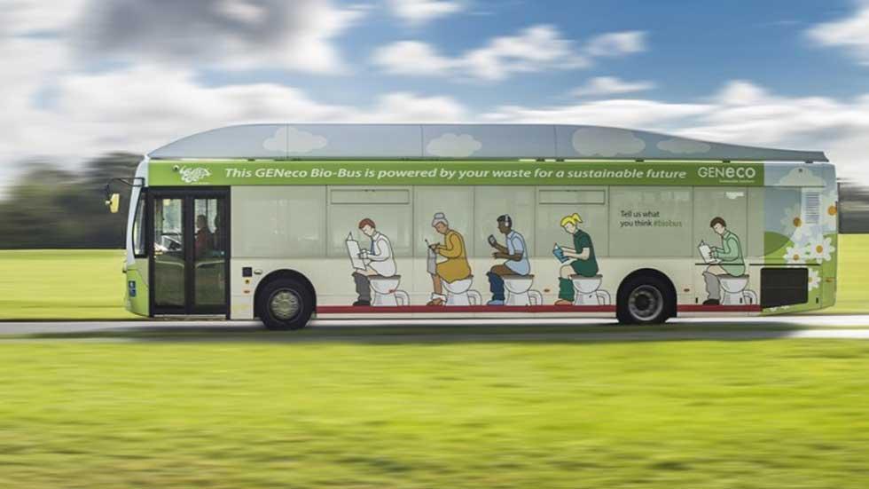 Geneco Bio-Bus, el autobús que se alimenta de residuos humanos