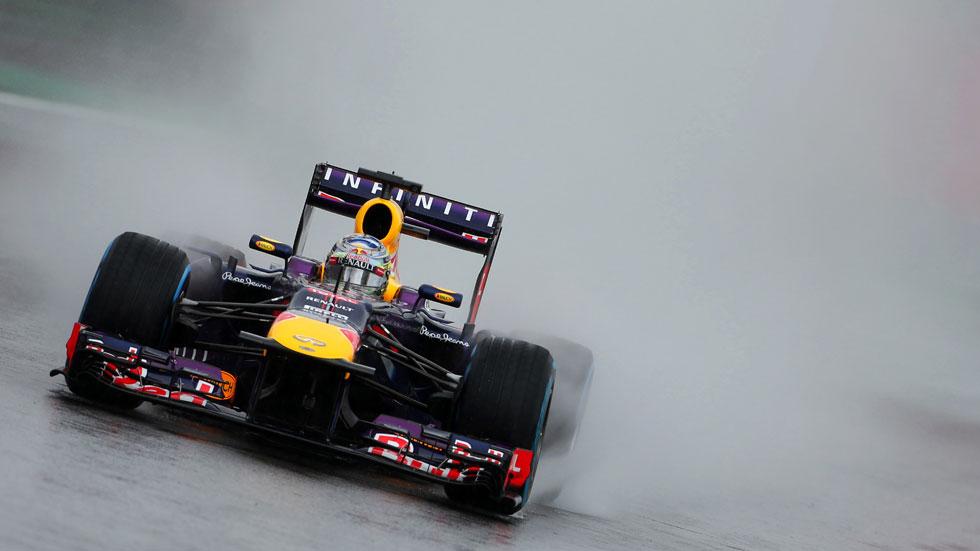 GP Brasil: 'pole' para Vettel en mojado y Alonso saldrá 3º