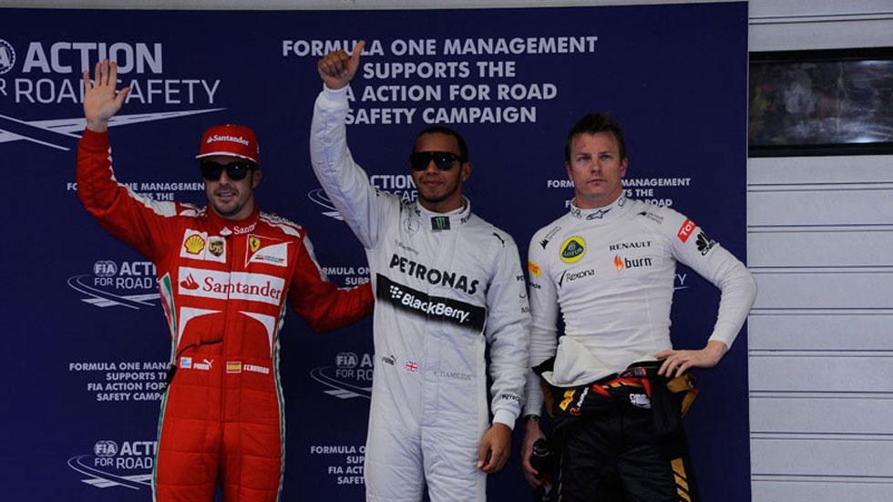 GP China 2013: Alonso saldrá tercero, por detrás de Hamilton y Raikkonen