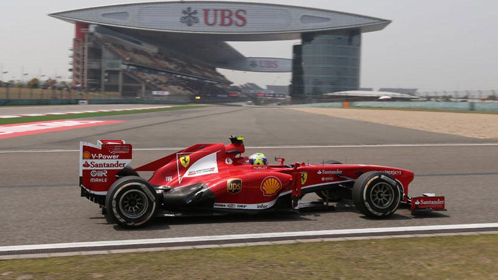 GP China: Massa marca el mejor tiempo de los segundos libres en Shanghai