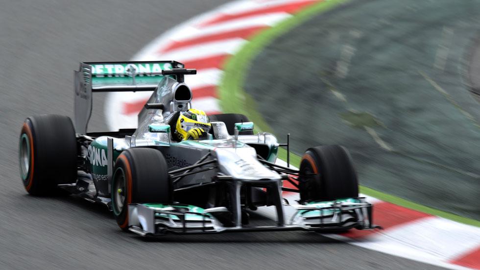 Nico Rosberg se lleva la 'pole' en Montmeló