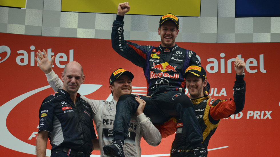 GP India: Vettel consigue su cuarto Mundial con una victoria en Buddh