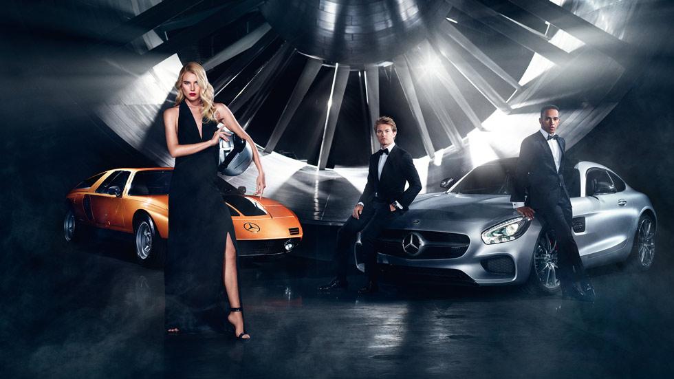 Hamilton y Rosberg, modelos de moda en la campaña Otoño/Invierno 2015 de Mercedes-Benz