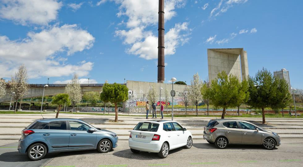 Comparativa: Hyundai i20 contra Opel Corsa 1.3 CDTi y Skoda Fabia 1.4 TDi